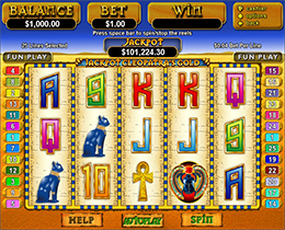 Jackpot Cleopatras Gold Slot Screenshot