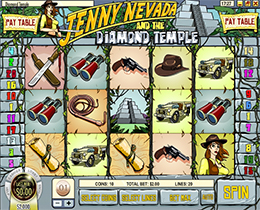 Jenny Nevada and the Diamond Temple Slot Screenshot